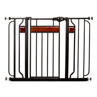 Regalo® Home Accents Walk-Through Gate in Black