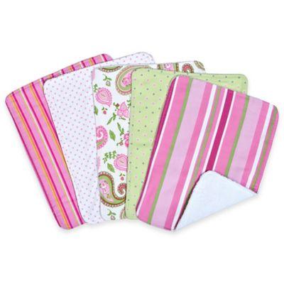 Trend Lab® 5-Pack Paisley Park Burp Cloth Bundle Box Set