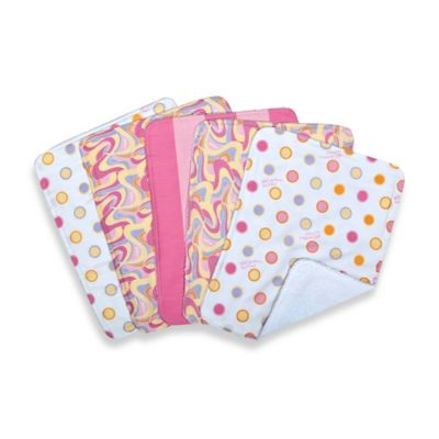 "Trend Lab® 5-Pack Dr. Seuss™ ""Oh the Places You'll Go!"" Burp Cloth Bundle Box Set in Pink"