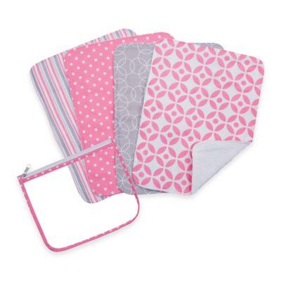 Trend Lab® 5-Pack Lily Burp Cloth Bundle Box Set