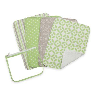 Trend Lab® 5-Pack Lauren Burp Cloth Set in Zipper Pouch