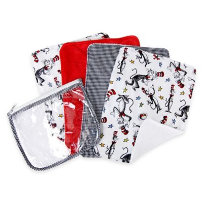 Red Baby Burp Cloths
