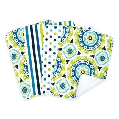 Trend Lab® 4-Pack Waverly® Solar Flair Burp Cloth Set