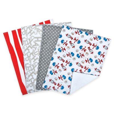 "Trend Lab® 4-Pack Dr. Seuss™ Cat in the Hat"" Burp Cloth Set"