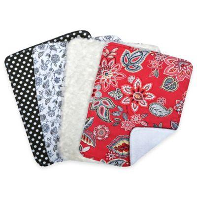 Trend Lab® 4-Pack Waverly® Charismatic Bouquet Burp Cloth Set