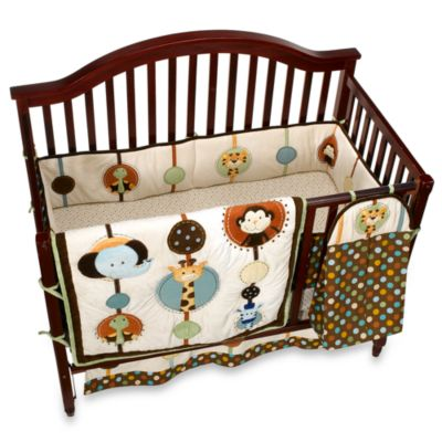 NoJo® Jungle Tales 6-Piece Crib Bedding Set