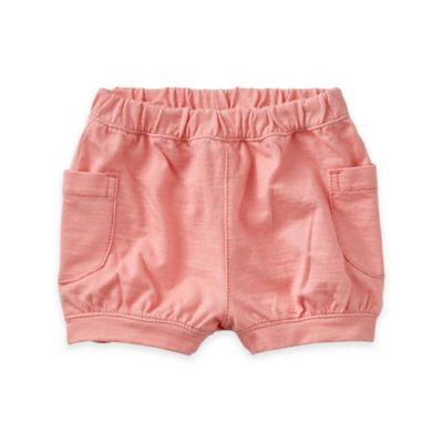 Tea Collection Size 3-6M Denim-Like Cargo Short in Coral