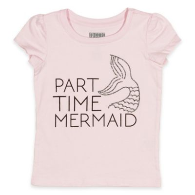 """Freeze Size 12M """"Part Time Mermaid"""" Short Sleeve T-Shirt in Pink"""