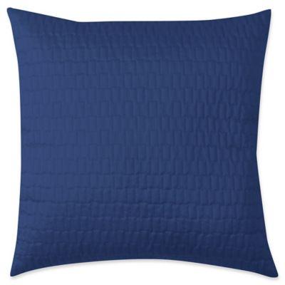 VCNY Serna Square European Pillow Sham in Blue