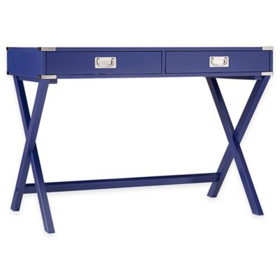 Verona Home Callie Campaign Writing Desk in Twilight Blue