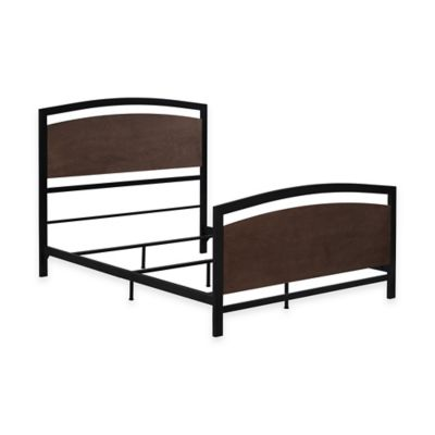 Bell'O® Queen Metal Bed Frame in Cocoa/Black