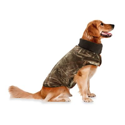 Track & Tail Rover Large Reversible Quilted Pet Jacket in Brown/Orange