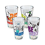 ICUP™ Peanuts® Motivational Pint Glasses (Set of 4)