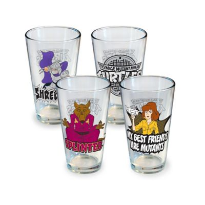 ICUP™ Teenage Mutant Ninja Turtles Friend & Foe 16-Ounce Pint Glasses (Set of 4)