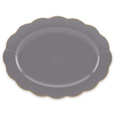 Marchesa by Lenox® Shades of Grey 16-Inch Oval Platter