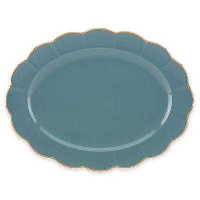 Marchesa by Lenox® Shades of Teal 16-Inch Oval Platter