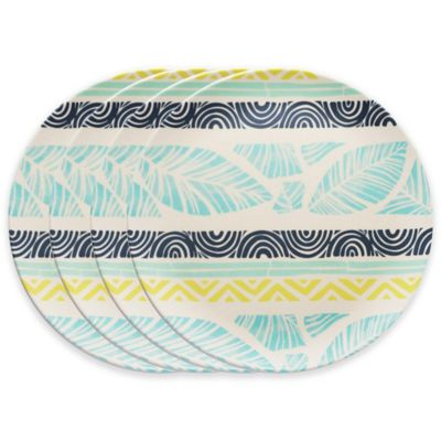Caribbean Joe Collage Dinner Plates (Set of 4)