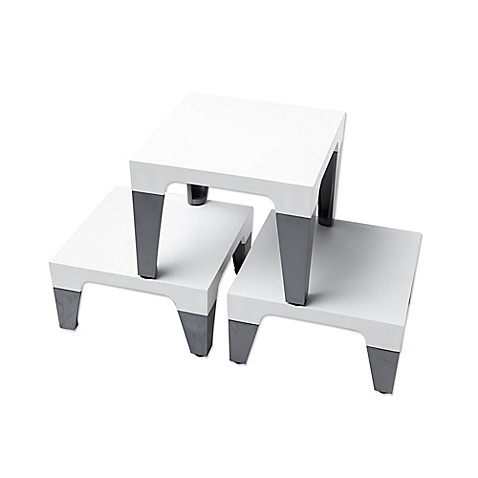 Sterling Risers Modern Tabletop Designs In White Silver