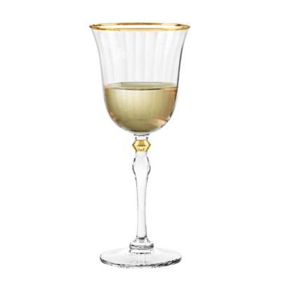 Qualia Salem Wine Glasses in Gold (Set of 4)