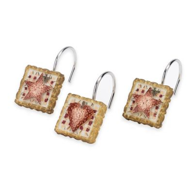 Avanti Hearts & Stars Shower Curtain Hooks (Set of 12)