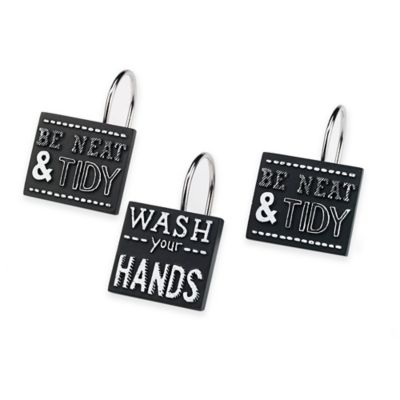 Avanti Chalk It Up Shower Curtain Hooks (Set of 12)