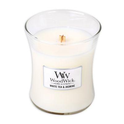 WoodWick® White Tea & Jasmine 10 oz. Jar Candle