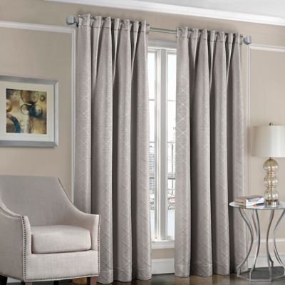Designers' Select™ Satin Diamond 63-Inch Rod Pocket/Back Tab Window Curtain Panel in Gold