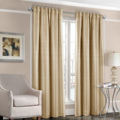 Designers' Select™ Satin Stripe 108-Inch Rod Pocket/Back Tab Window Curtain Panel in White