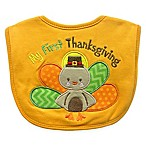 My First Thanksgiving Appliqued Feeder Bib