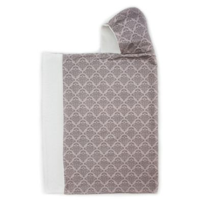 Bella Bundles™ Snap Hooded Towel in Gray Damask