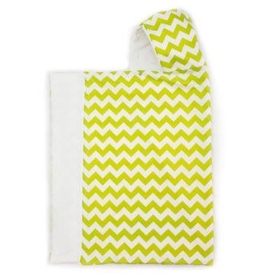 Bella Bundles™ Snap Hooded Towel in Lime Chevron