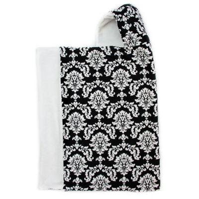 Bella Bundles™ Snap Hooded Towel in Black Damask