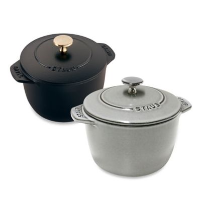 Staub 0.75 qt. Petite French Oven in Graphite Grey