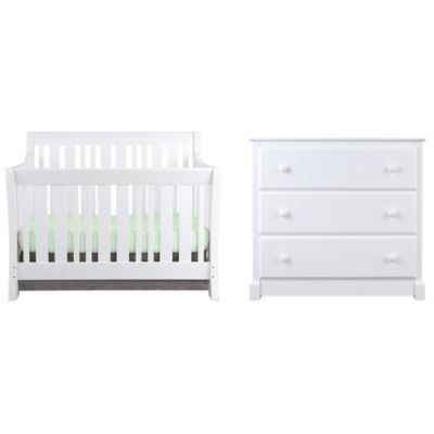 Nursery Smart Darby 4-in-1 Convertible Crib in Pure White