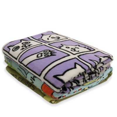 Park B. Smith® PB Paws Pet Cat Album Fleece Throw Blanket in Plum