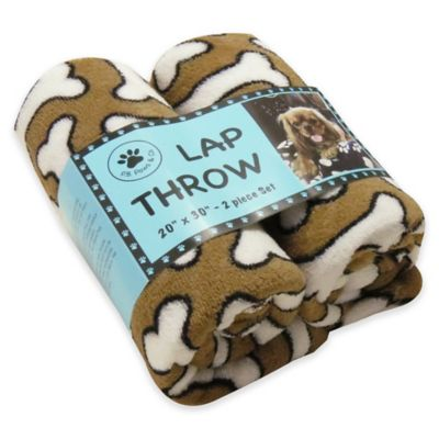 Park B. Smith® PB Paws 2-Pack Pet Dog Treats Lap Throw Blankets in Linen