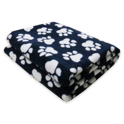 Park B. Smith® PB Paws Pet World Paws Fleece Throw Blanket in Indigo