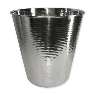 Hammered Stainless Steel Wastebasket