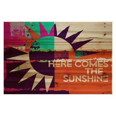 Parvez Taj Here Comes The Sunshine 45-Inch x 30-Inch Wood Wall Art