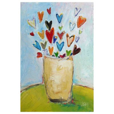 Parvez Taj Bouquet of Love 16-Inch x 24-Inch Canvas Wall Art
