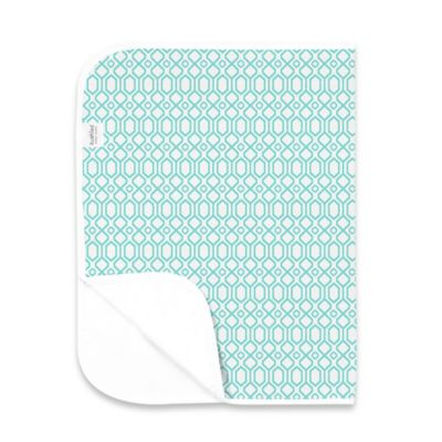 Kushies Deluxe Flannel Octagon Changing Pad in Turquoise