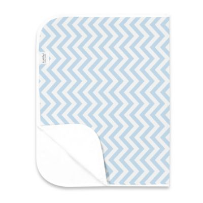 Kushies Deluxe Flannel Chevron Changing Pad in Blue
