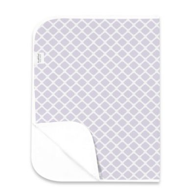 Kushies Deluxe Flannel Lattice Changing Pad in Lilac