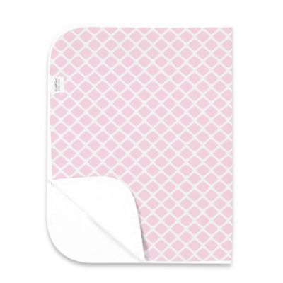 Kushies Deluxe Flannel Lattice Changing Pad in Pink