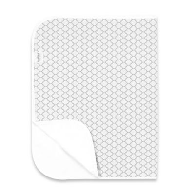 Kushies Deluxe Flannel Ornamental Lattice Changing Pad in Grey