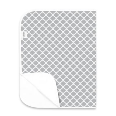 Kushies Deluxe Flannel Lattice Changing Pad in Grey
