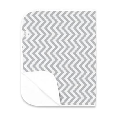 Kushies Deluxe Flannel Chevron Changing Pad in Grey