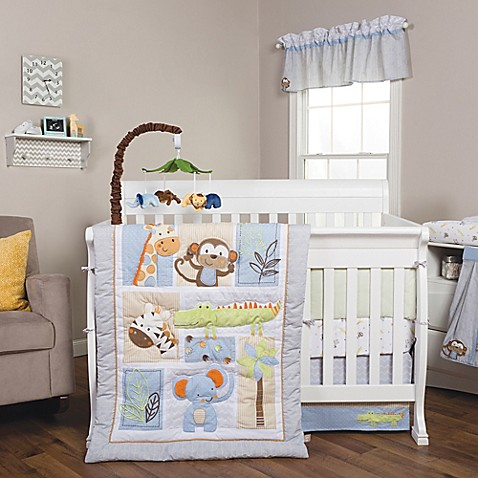 Trend Lab 174 Jungle Fun Animal Crib Bedding Collection