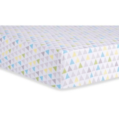 Trend Lab® Triangles Fitted Crib Sheet in Multicolor