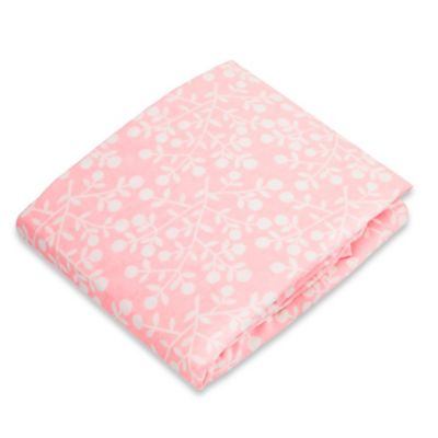 kushies® Flannel Portable Play Pen Fitted Sheet in Berries Pink